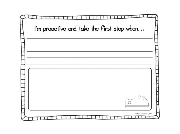 """I'm Proactive"" writing page"