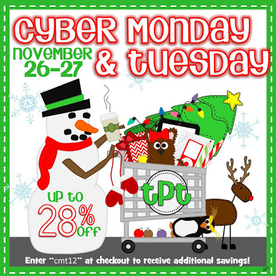 Michaela Peterson TpT Cyber Monday plus Tuesday Sale